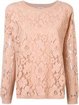 Twin-Set floral lace detail sweatshirt