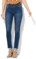 New York & Co. Soho Jeans - SuperStretch High-Waist Pull-On Legging - Laguna Blue Wash