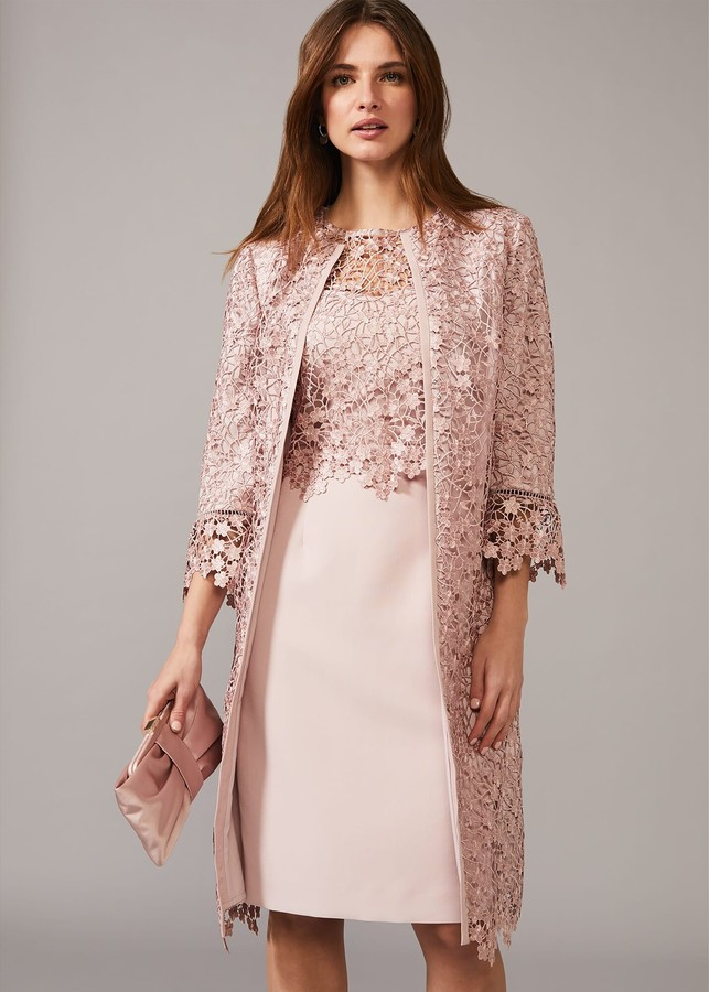 Phase Eight Mariposa Lace Occasion Coat