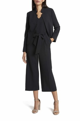 Tahari ASL Women's Stand Collar Cropped Jacket