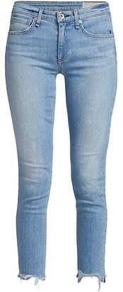Rag & Bone Cate Mid-Rise Ankle Skinny Raw-Hem Jeans