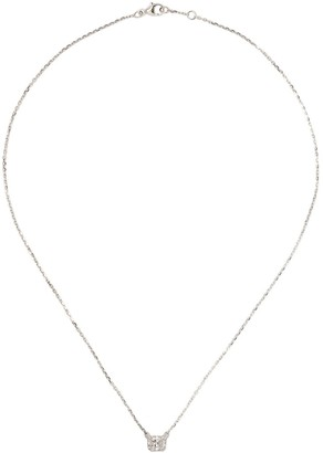 Raphaele Canot Diamond Foundry x Dover Street Market18kt white gold Lucky Cat diamond necklace