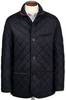 Charles Tyrwhitt Navy Canvas Quilted Cotton Jacket Size 36 Regular