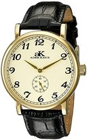 Adee Kaye Men's AK9061N-MG/G Vintage Mechanical Analog Display Mechanical Hand Wind Black Watch
