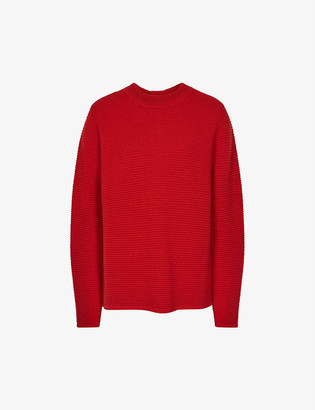 Reiss Skye zipped-back wool-blend jumper