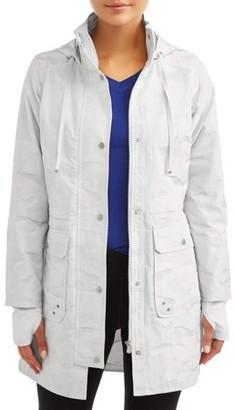 Athletic Works Women's Active Camo Anorak Jacket with Hood