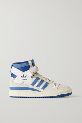 adidas Og Forum 84 Leather And Suede High Top Sneakers - White