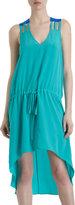 Mason by Michelle Mason Cut-Out Shoulder Sleeveless V-Neck Dress