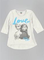 Junk Food Clothing Girls Love Is An Open Door 3/4 Sleeve Tee-ivory-l
