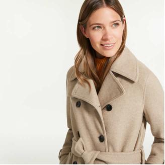 Joe Fresh Women's Trench Coat, Dark Khaki Mix (Size XS)
