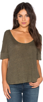 Heather Linen Scoop Neck Top