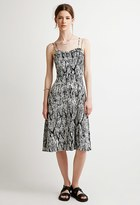 Forever 21 FOREVER 21+ Contemporary Abstract Ikat Print Dress