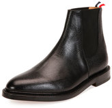 Thom Browne Grained Leather Chelsea Boot, Black