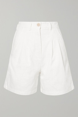 L.F. Markey Henry Linen And Cotton-blend Shorts - White