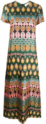 La DoubleJ Swing geometric print dress