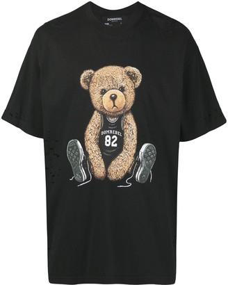Dom Rebel teddy bear print T-shirt