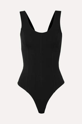 Vince Stretch Cotton-jersey Bodysuit - Black