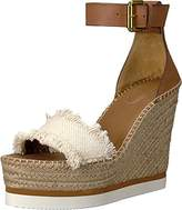 See by Chloe Women's Glyn Espadrille Wedge Sandal,39 M EU (9 US)