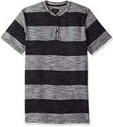 Lee Men's Short Sleeve Striped Fashion Henley
