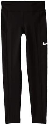 Nike Kids Trophy Tights (Little Kids/Big Kids) (Black/Black/Black/White) Girl's Casual Pants