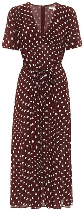 ALEXACHUNG Vivian polka-dot midi dress