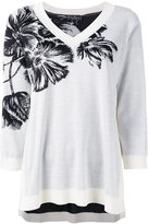 Salvatore Ferragamo floral embroidered top - women - Silk/Virgin Wool - S