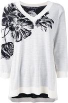 Salvatore Ferragamo floral embroidered top