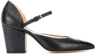 Thom Browne Mid-Block D'orsay Heel In Pebble Grain Leather