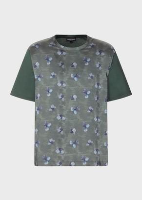 Emporio Armani Floral Watercolour-Print T-Shirt