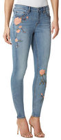 Miraclebody Faith Fit Solution Embroidered Skinny-Fit Denim Pants