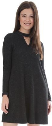 Iz Byer Juniors' Swing Shift Mockneck Gigi Sweater