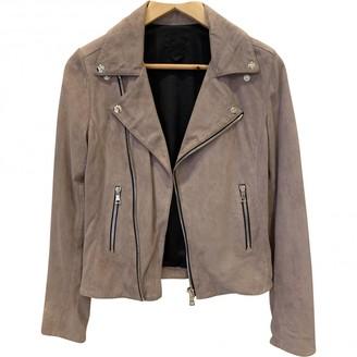 RtA Purple Leather Jacket for Women