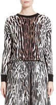 St. John Women's Animal Print Wool Pullover