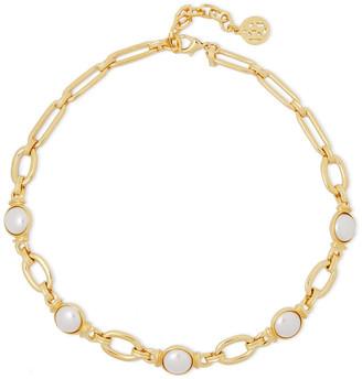 Ben-Amun 24-karat Gold-plated Faux Pearl Necklace