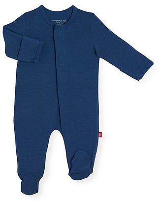 Magnetic Me Baby Boy's Silky Soft Solids Footie