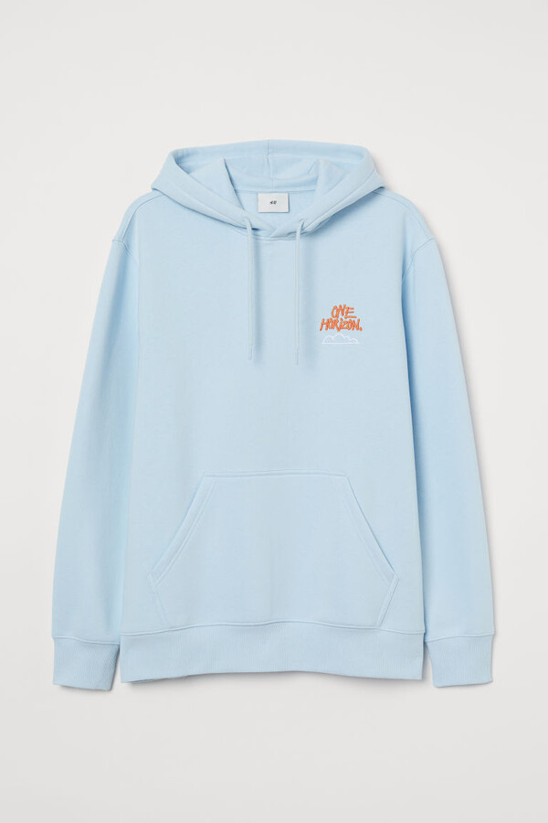 Thumbnail for your product : H&M Printed Hoodie - Blue