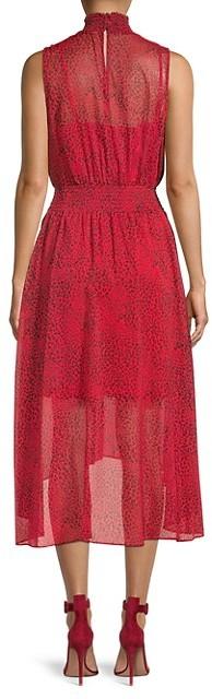 Thumbnail for your product : Nanette Lepore Cheetah-Print Chiffon Blouson Dress