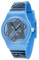 Airwalk Quartz Plastic and Silicone Casual Watch, Color:Blue (Model: AWW-5089-BL)