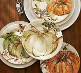 Pottery Barn Harvest Pumpkin Salad Plates, Set of 4