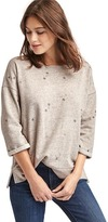 Gap Embroidered mini flower sweatshirt