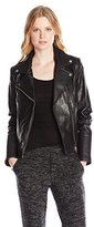 Soia & Kyo Women's Hadley Leather Moto Jacket
