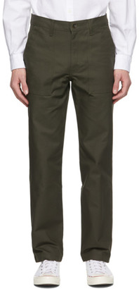 Naked and Famous Denim Khaki Canvas Work Trousers