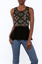 Sugar Lips Sugarlips Geo Velvet Top