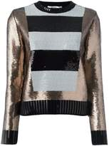 Max Mara striped panel sequin jumper