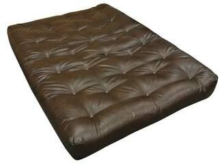 "Gold Bond 9"" Cotton Twin Size Futon Mattress Upholstery: Dark Brown"