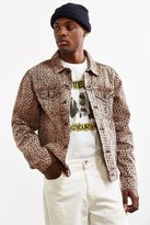 Urban Outfitters Cheetah Print Denim Trucker Jacket