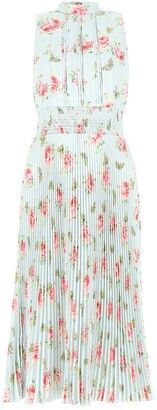 Prada Floral Pleated Midi Dress