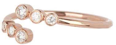 Ef Collection 14K Rose Gold Diamond Bezel Twist Ring - Size 3 - 0.24 ctw
