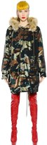 Ashish Camouflage Sequined Faux Fur Parka