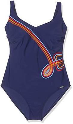 Sunflair Women's Happy Line Swimsuit, Blue 26, 38D (Size: 42D)
